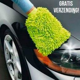 Auto washandschoen...